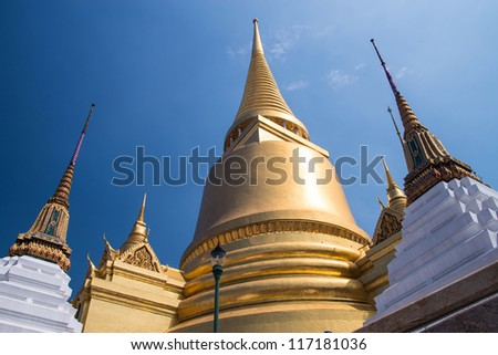 The Golden Pagoda in Grand Palace ,Bangkok Thailand