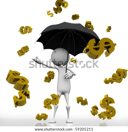 the golden rain of dollar signs