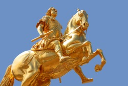 The Goldener Reiter (Golden Rider), a gilded equestrian statue of Augustus the Strong is one of Dresden's best known landmarks.