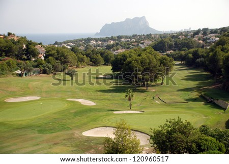 The golf course close to Calpe on the costa blanca - stock photo