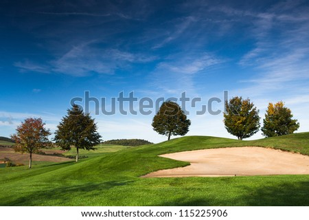 The golf course in Czech Republic - stock photo