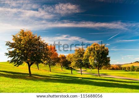 The golf course in Czech Republic - stock photo