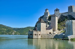 The Golubac Fortress was a medieval fortified town on the south side of the Danube River, Golubac,  Serbia.