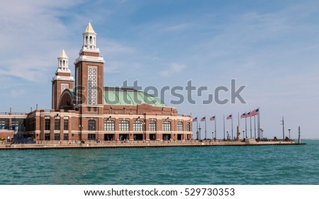 The Grand Ballroom on the navy pier on the Chicago waterfront #529730353