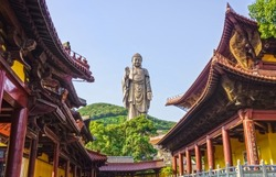 The Grand Buddha statue at Ling Shan is one of the largest Buddha statues in China and also in the world.