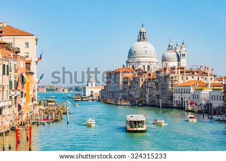 The Grand Canal in Venice, Italy. #324315233