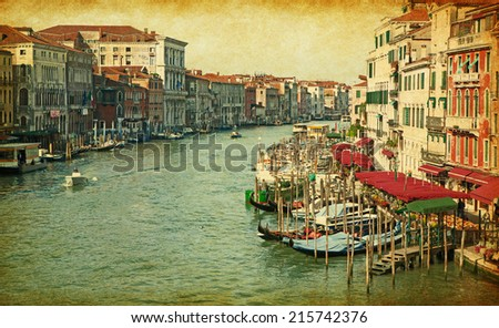 the grand canal in venice ...