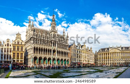 the grand place in a beautiful...