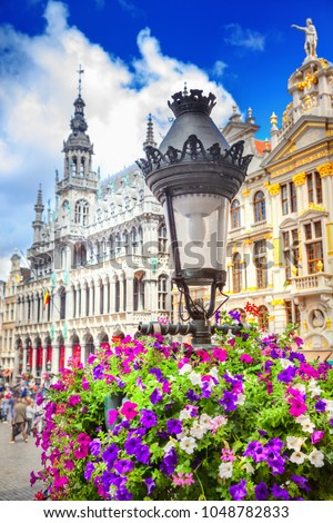 The Grand Place in Brussels, Belgium #1048782833