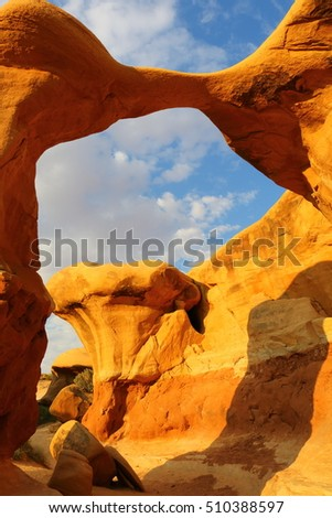 stock photo the grand staircase escalante national monument devils garden metate arch utah united states 510388597 - Каталог — Фотообои «Балконы, арки»