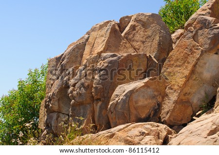 The granite rocks of Cowles Mountain in San Diego