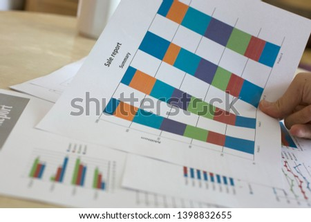 The graph of each product type that represents the sales proportion of the product. Sales in each area are displayed as bar graphs for easy understanding. In strategic analysis