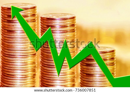 The graph of growth against the background of the money . The concept of changes in market prices .