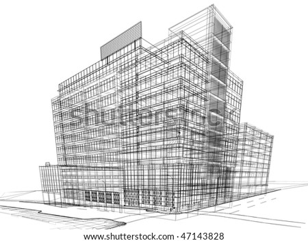 The graphic image of building construction stock photo
