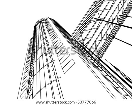 Image of building construction on a white background stock photo