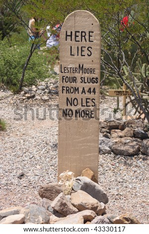 The grave marker of Lester Moore - stock photo
