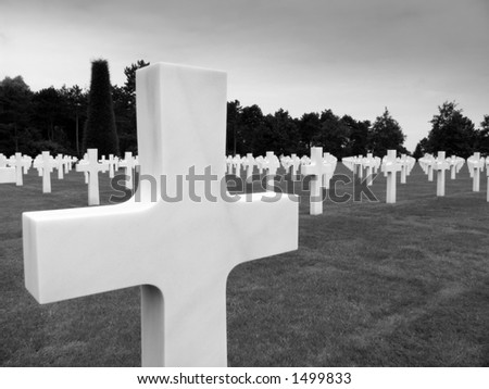 The graves , Normandy American Cemetery , Colleville sur mer , Normandy , France