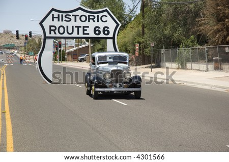 The Great American Race from NC to CA in Kingman, Arizona