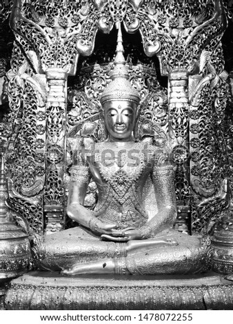The Great Buddha from the previous time. Made from believe and respect. From Phang-Nga province at wat Tar Sor #1478072255