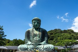 The Great Buddha of Kamakura at Kotokuin Temple is one of the most famous icons of Japan