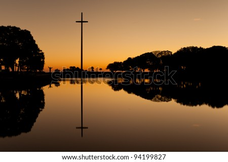 The Great Cross at the Mission of Nombre de Dios in St. Augustine, Florida