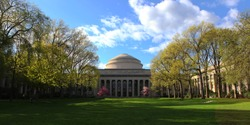 the Great Dome at MIT in spring