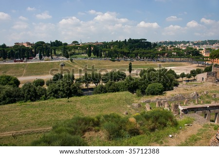 The great historical Circo Massimo in Rome