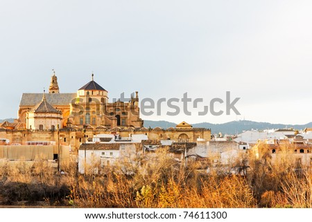 The great Mosque at dusk in Cordoba, Andalucia, Spain
