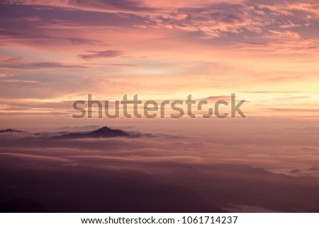 The great mountain above the clouds in the paraná peak. #1061714237