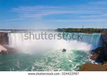 The great Niagara Falls.  #324422987