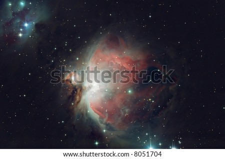 The great Orion nebula decorating the heart of constellation Orion