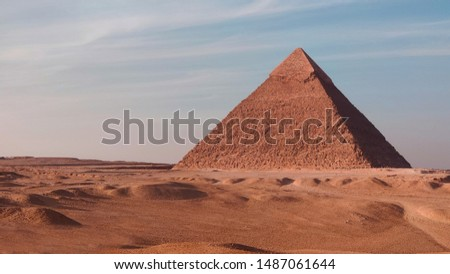 The Great pyramid of Giza, Egypt Khufu on a sunny day