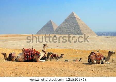 The Great Pyramids of Giza, Egypt #1215108769