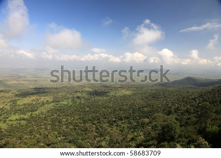The Great Rift Valley in Kenya, Africa - stock photo