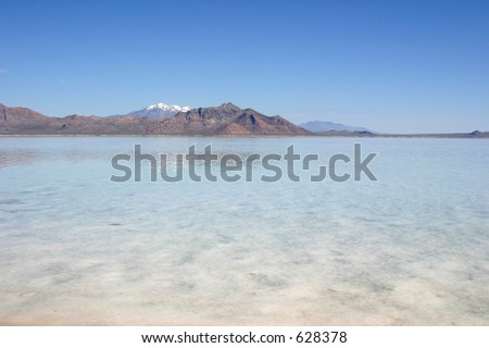 The Great Salt Lake - stock photo