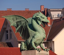 The great slovenian dragon statue