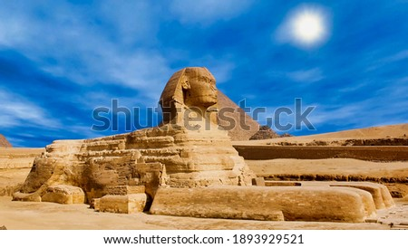 The Great Sphinx of Giza, Cairo, Egypt Stock photo ©