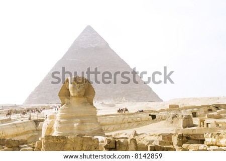 The Great Sphinx of Giza near Cairo, Egypt.