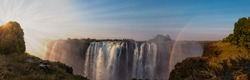 The great Victoria Falls near Livingstone in Zimbabwe