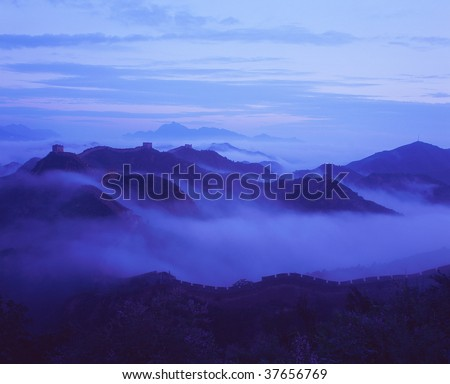 The Great Wall in a sea of cloud.