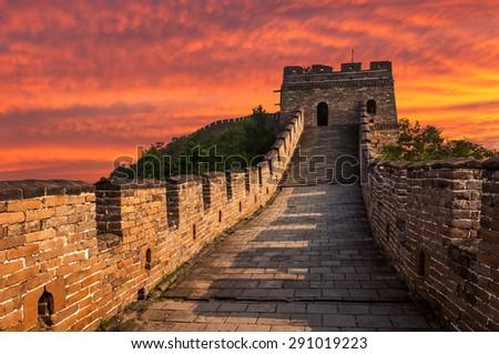 The Great Wall of China at Mutianyu. #291019223