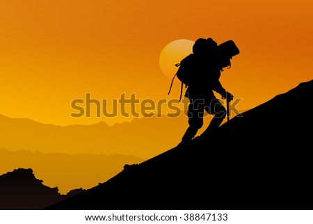 The greater danger for most of us is not that our aim is too high and we miss it, but that it is too low and we reach it. - stock photo