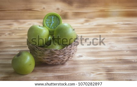 the green apple and green alarm ...