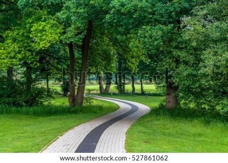 the green nature lungs of a golf club in bremen / die grünen Lungen eines Golfclubs in Bremen - Shutterstock ID 527861062