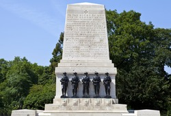 The Guards Memorial in Horse Guards Parade, London.  The memorial commemorates the men of the five Foot Guards Regiments who gave their lives in the Great War.