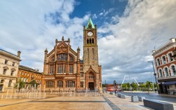 The Guildhall in Londonderry / Derry, Northern Ireland