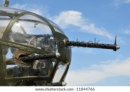 The guns of the B-25 Mitchell bomber of World War Two fame