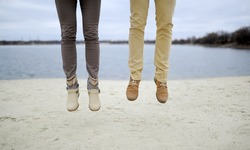 the guy and the girl - feet