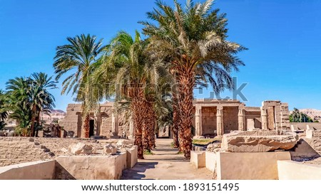 The Habu Temple is one of the most popular objects of Theban Necropolis, Luxor, Egypt. Stock photo ©