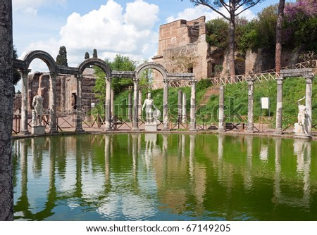 The Hadrian's Villa (Villa Adriana in Italian) is a large Roman archaeological complex at Tivoli, Italy.